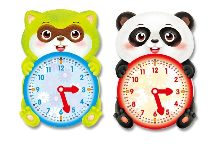 Baby Clock Teach Children To Learn Recognize A Child Time Timepiece Hour Minute Second Hand Band Aids Toys Educational Cartoon