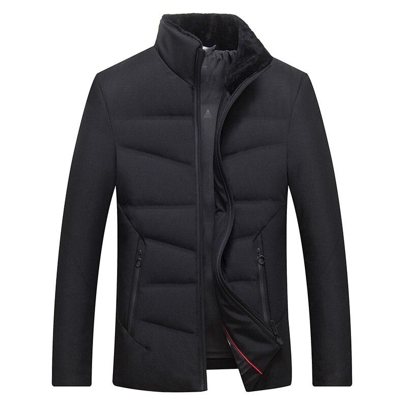 DZYS Men's White Duck   Down   Jacket Fleeced Collar Slim Casual Warm   Down     Coat   for Men Male 7671