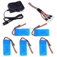 Yi Zhan Tarantula X6 H16 MJX X101 V666 V353B 5PCS Lipo Battery And Chargers Charge Transfer