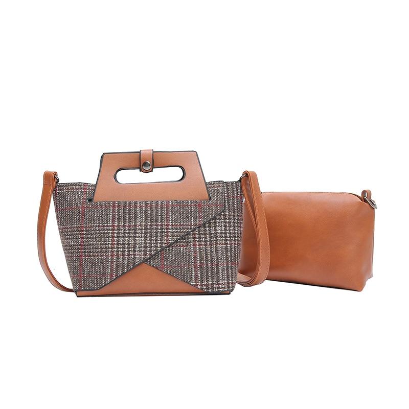 Small bag female 2018 new wave bag Korean wild Messenger bag simple shoulder bag woolen handbag bag giulia monti bag