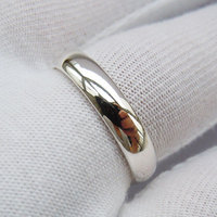 Unisex Solid 925 Sterling Silver Inlay Wedding Band Ring