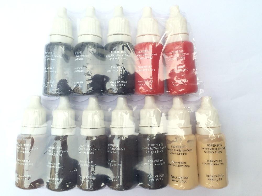 5 colors permanent makeup micro pigments set biotouch. Black Bedroom Furniture Sets. Home Design Ideas