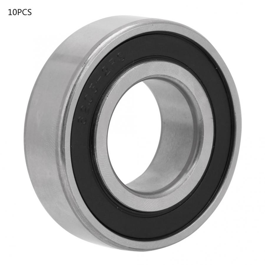 rodamientos 10pcs 25x52x15mm Double side Rubber Sealed Deep Groove Steel Ball Bearings bearing axial
