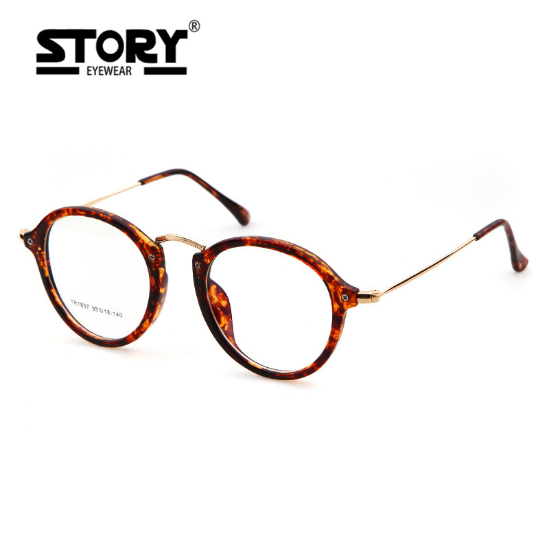 HISTORIA Nuevo espejo plano tendencia monturas de gafas retro gafas ...