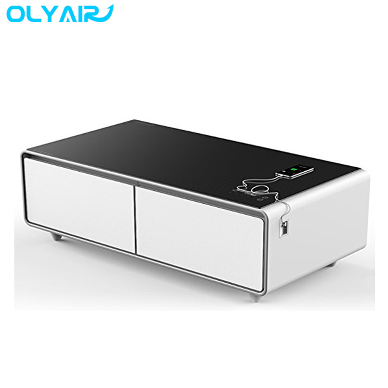 smart multi function coffee table smart mini bar fridge mobile recharger bluetooth speaker pls contact sales to get good price