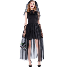 Vampire Zombie Cosplay Black Ghost Bride Costumes Witch Princess Mesh