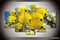 Hd مطبوعة البحرية المرجانية الأسماك الطباعة المشارك صورة قماش اللوحة قماش طباعة ديكور غرفة شحن مجاني/Ny-2271 هدية عيد