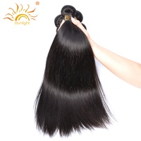 Sunlight Human Hair Products Brazilian Straight Hair Weave Non Remy Human Hair Bundles Natural Color Very