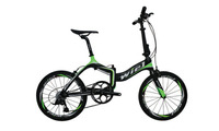 WIEL Transfoemer Folding Carbon Fiber BMX Bike 20 inch Carbon wheels Mini Compact City bicycle