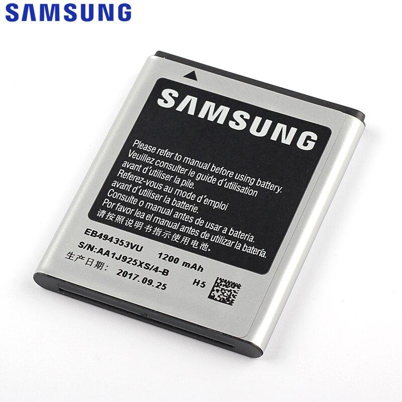 Original Ersatz Samsung Batterie Für SAMSUNG S5330 GT-S5570 i559 S5570 S5232 C6712 S5750 Echte Batterie EB494353VU 1200 mAh