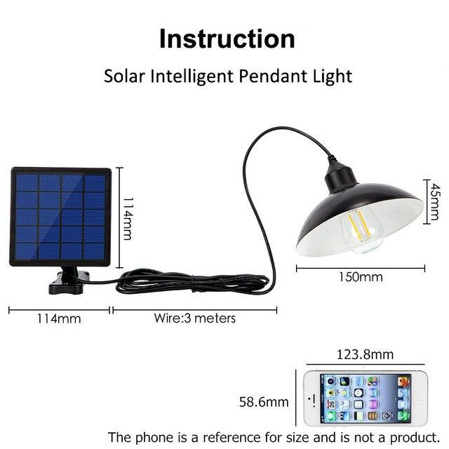 Garden Solar Light Retro Bulb Chandelier  2