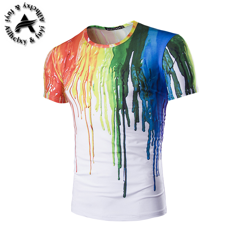 new fashion The Thinker Printing Abstract t-shirts