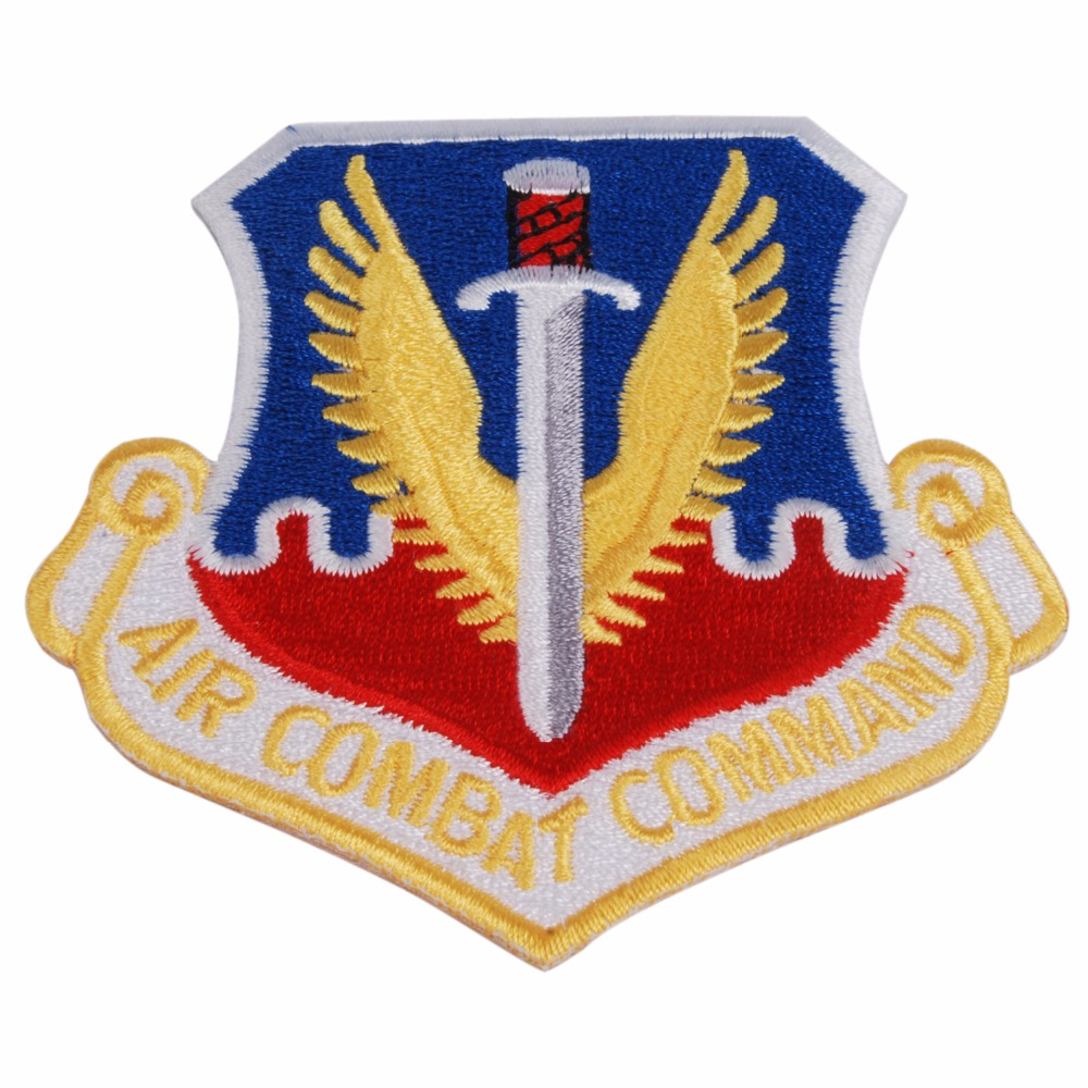 MILITARY PATCH COLORED US AIR FORCE USAF AIR COMBAT COMMAND PATCH