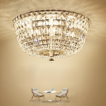 Modern Crystal Ceiling Lights Fixture LED Lamp K9 Crystal Ceiling Lamps American Romantic Living Bed Room Home Indoor Lighting modern minimalist golden led circular living room crystal lamp creative lamps atmospheric luxury hall ceiling lighting fixture