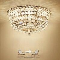 Modern Crystal Ceiling Lights Fixture LED Lamp K9 Crystal Ceiling Lamps American Romantic Living Bed Room Home Indoor Lighting