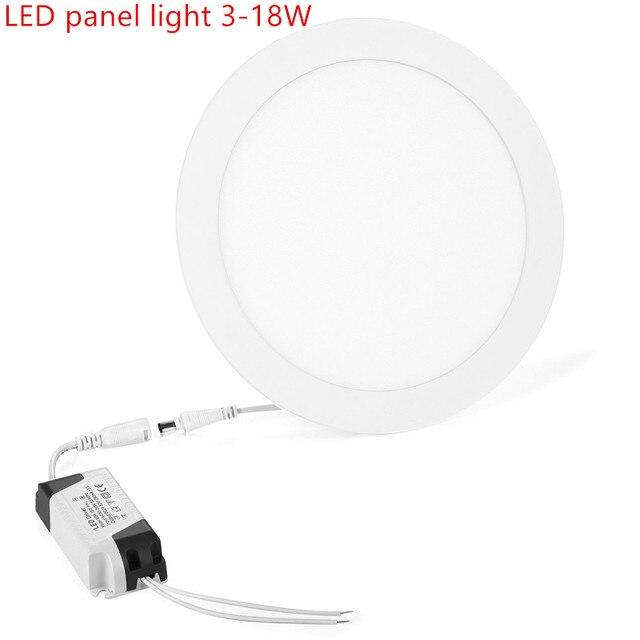 Luz Do Painel de LED Recesso Lâmpada Cozinha Banheiro 85-265 v 12 9 6 3 w w w w 15 w // 18 w Rodada LED Teto Painel de luz Quente Branco Fresco