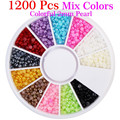 Yao Shun Mix Color Half Round Rhinestone Pearl DIY Nail Art Salon 2mm Pearl Rhinestone