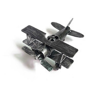 Retro Style World War II Fighter Fixed Wing Aircraft Bomber Model Aluminum Alloy Die Casting Creative