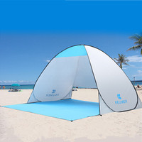 Portable Summer Beach Tent Beach Awning Sun Shelter Half Open Waterproof Tent Shade Ultralight For Outdoor