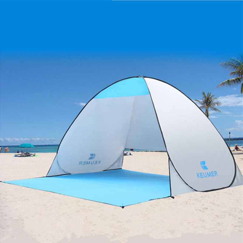Portable Summer Beach Tent beach Awning sun shelter half-open waterproof tent shade ultralight for outdoor camping fishing 1x 200 200 160cm summer outdoor camping sun shelter uv protection beach shade fishing tent portable roof tent for swimming boat