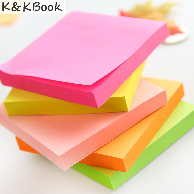K&KBOOK 100sheets Macaron color sticky note Portable adhesivs