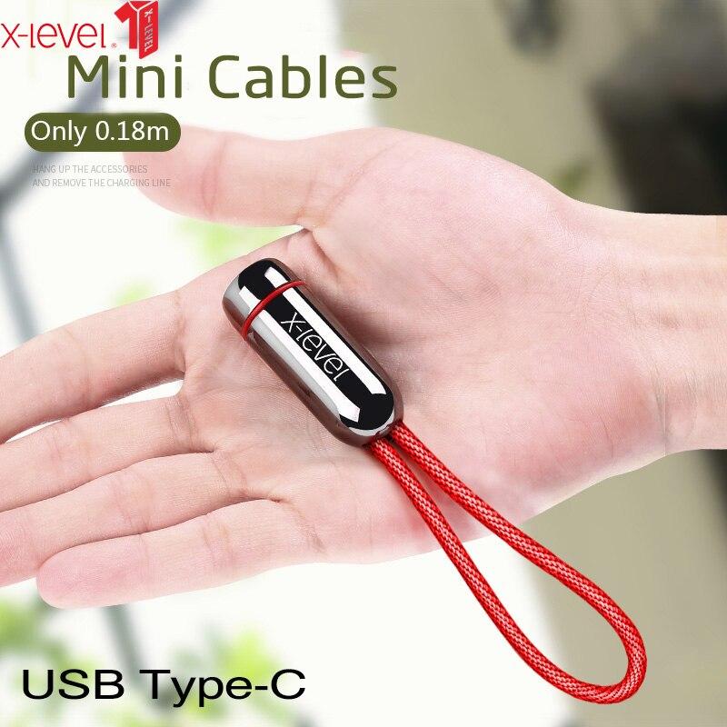 X-Niveau USB Type C Câble Rapide Type-C Câble de Chargement de Données Pour Xiao mi mi 8 Huawei P20 lite USB-C Câble Pour Samsung S9 Plus Note 9