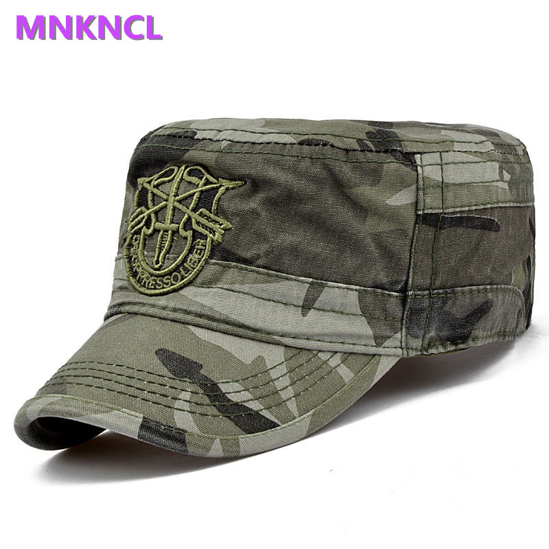 2017 Brand Fashion Men Tactical Army Camouflage Flat Cap Hats For Women Men Summer Camo Army Baseball Caps Adjustable brand kenmont new summer hats for women 100
