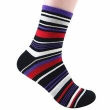 Мужчины Хлопчатобумажные Носки для мужчин Повседневная Полосой Цветов Повседневной Носки Мужской Носок Y26