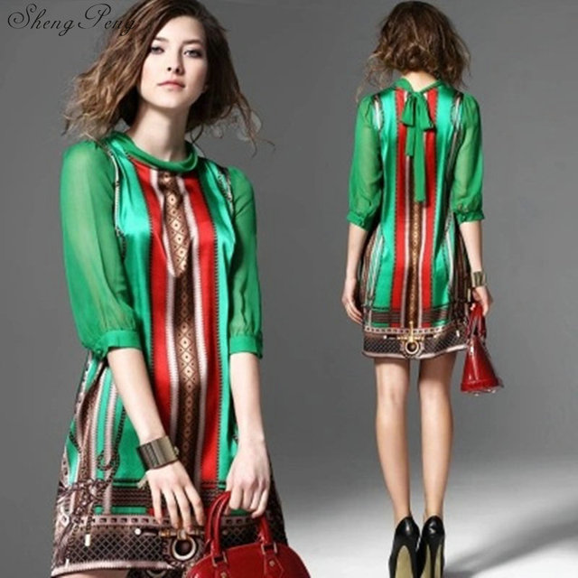 Hippie bohemian style boho hippie dress mexican embroidered dress boho chic dresses Q531 3