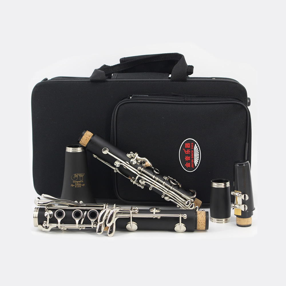 High Quality Clarinet ABS 17 Key bB Tone Flat Brass Button Binocular Clarinet Flute with Cleaning Cloth Screwdriver Case high quality pump bb b40y1