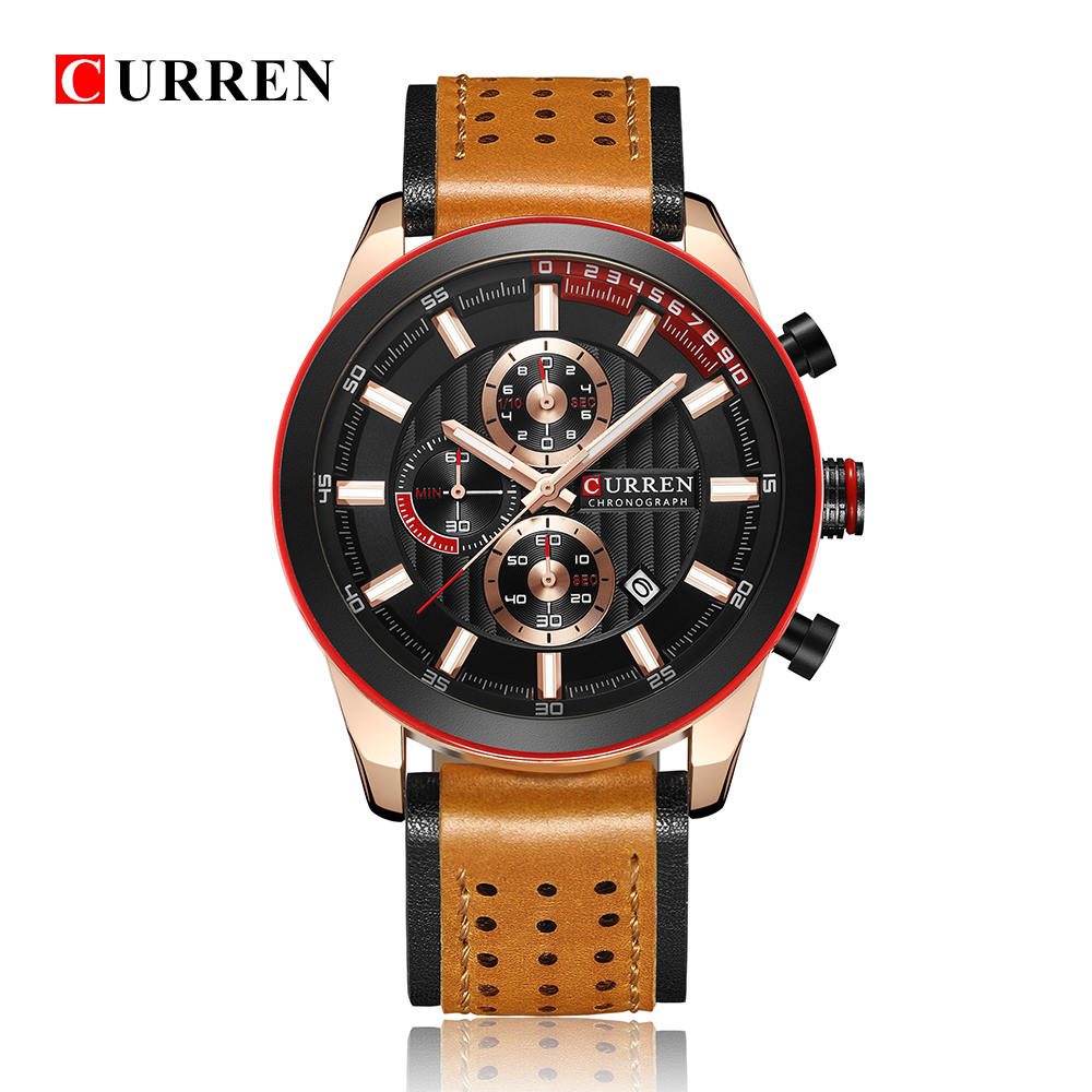 CURREN Top Luxury Brand Mens Classical Design Casual Dress Leather Watches Male Calendar Clocks relogio masculinoCURREN Top Luxury Brand Mens Classical Design Casual Dress Leather Watches Male Calendar Clocks relogio masculino