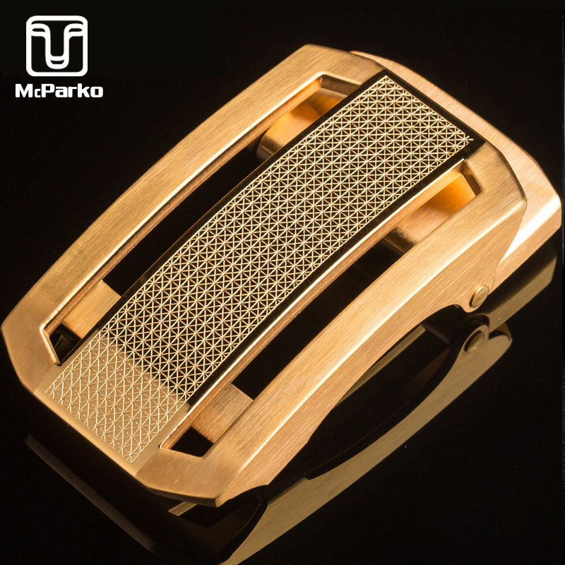 McParko Metal Belt Buckle Automatic Stainless Steel Belt Buckle For Men Luxury Belt Buckle 35mm Fashion Brand Design Style