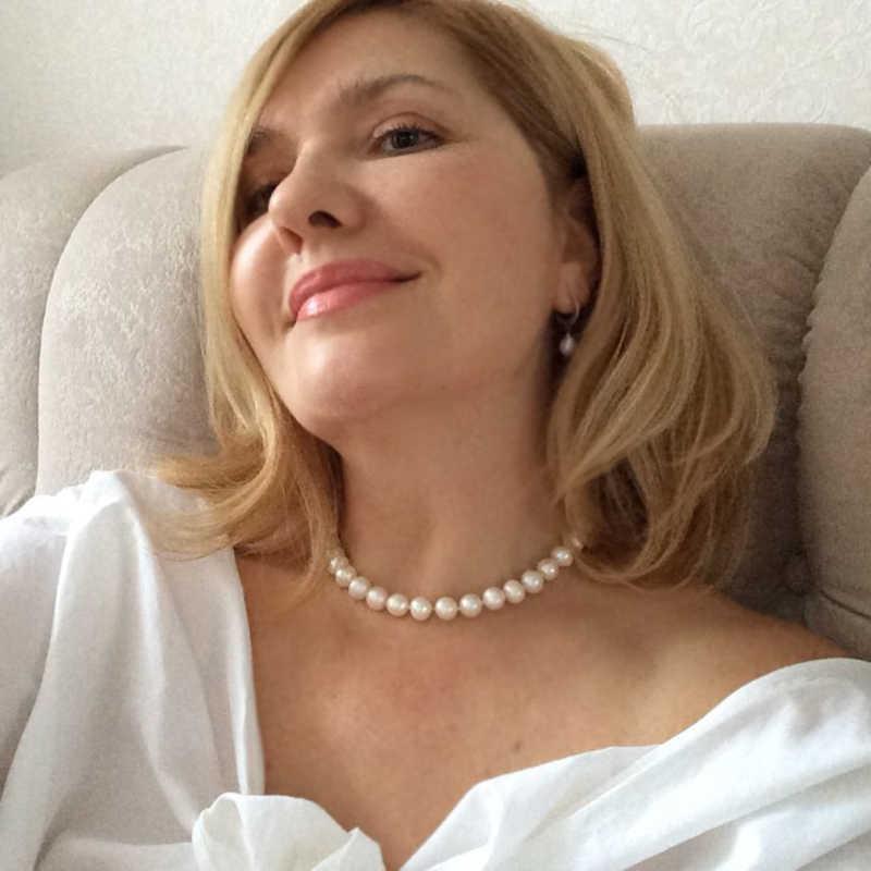 Thật ngọc trai Nước Ngọt cổ nữ đám cưới, trắng choker ngọc trai tự nhiên 925 trang sức bạc lớn nhất quà tặng sinh nhật