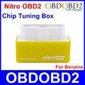 2016 NitroOBD2 Benzina/Caixa OBD2 Chip Tuning Gasolina Nitro Ferramentas OBDII OBD2 Para A Gasolina Plug And Drive 3 Anos garantia