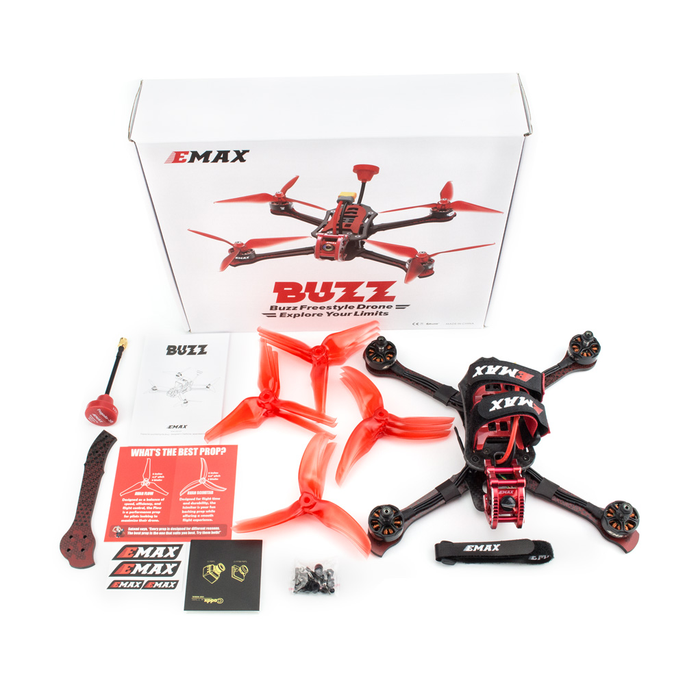 EMAX Базз Фристайл гоночный Дрон BNF 1700kv/2400kv двигатель с FrSky XM + приемник Quadcopte FPV камера для Rc Самолет