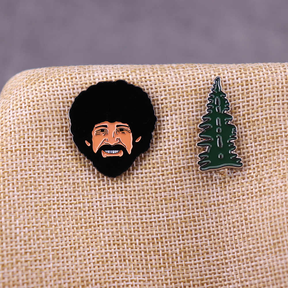 Ross dan Happy Tree Pin Set