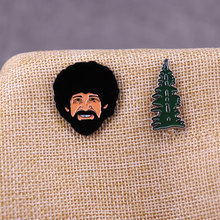 Bob Ross dan Happy Tree Pin Set(China)