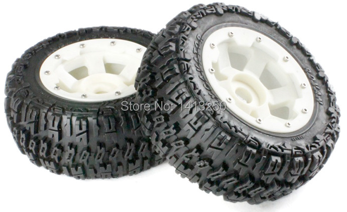 5T Front knobby wheel set with nylon super star wheel  for baja parts,free shipping baja front new  knobby tire set 85078