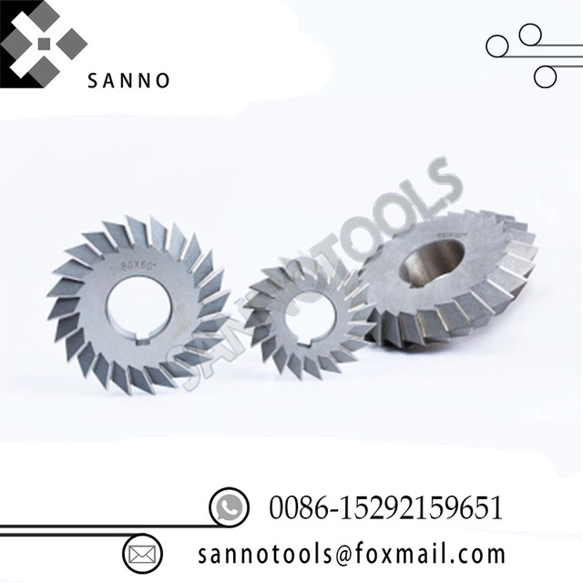HSS end mills white steel V - double angle milling cutter 30 degree 45 degree 90 degree 60 degree helical gear for cnc machine