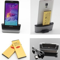 2 Pcs Note 4 Battery 3500mAh 1 Pcs White Battery Charger Cradle Dock For Samsung Galaxy