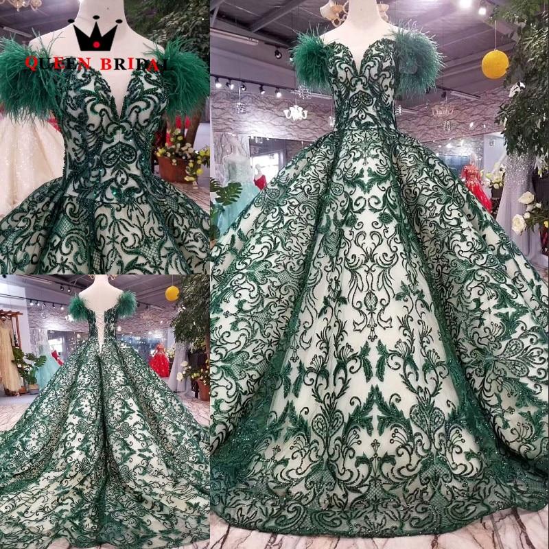 2019 Een Line Veer Crystal Lace Kralen Pailletten Banket Elegante Avondjurk Custom Made Partij Jassen Robe De Soiree Ev201