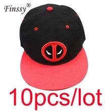 10 unids lote Deadpool Hip Hop sombrero del Snapback casquillo del verano  gorra de béisbol para hombres Gorras ocasionales 1b3e52e5f1b