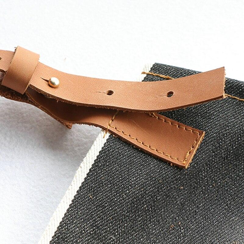 Grembiule Denim Vintage Design 100% Cotone Regolabile pelle di Pecora Tracolla Tasche Dei Telai di Indumenti Da Lavoro-in Abiti da Abbigliamento da donna su  Gruppo 2