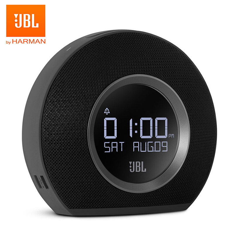 <font><b>JBL</b></font> Horizon Bluetooth Wireless <font><b>Speaker</b></font> Alarm Clock FM Radio With USB <font><b>Charging</b></font> LED Ambient Light Desktop Stereo Sound <font><b>Speaker</b></font> image