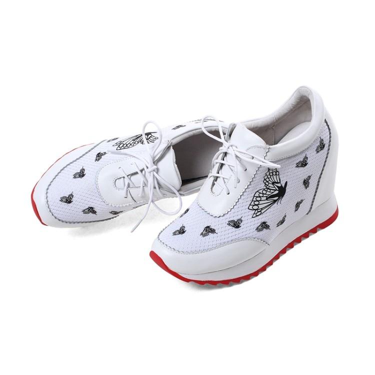 Zapatos Nueva Alto Las Mujer Cuñas Plataforma Casuales Altura Mujeres Señoras Tacón Negro blanco {zorssar} De Transpirables Aumento Zapatillas 2018 Deporte qYvzzwZx