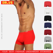 ORLVS Brand Men Boxers Male Underwear Sexy Shorts Breathable