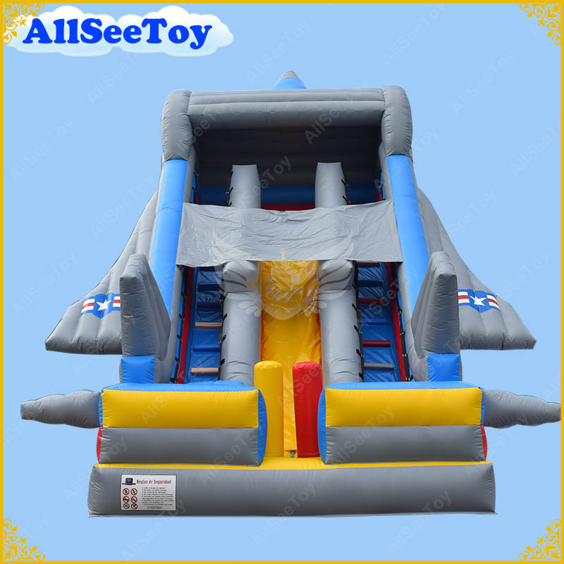 Inflatable Slide Commercial: New Design Giant Inflatable Slide, Plane Inflatable Slide