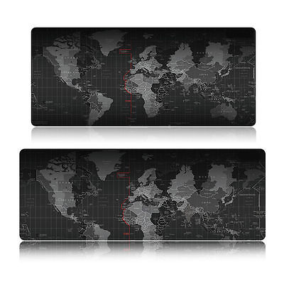 Anti-slip World Map Pattern Mouse Pad Laptop Computer Mice Mat Desk Keyboard Mat