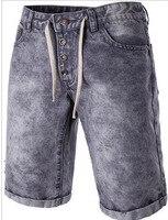 Thời Trang mới Nam Quần Jean Ngắn Mùa Hè 98% Cotton Shorts Breathable Quần Short Denim Nam