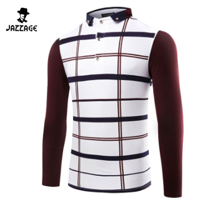 Polo Shirt Men 2016 3D Hollow Fashion Lapel Mixed Colors Lace Long Sleeve Polo Shirt Casual Henley Shirt Polo Homme DQWAA